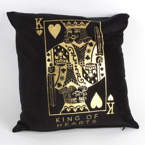 Black King of Hearts Cushion Casino Poker Novelty Gift